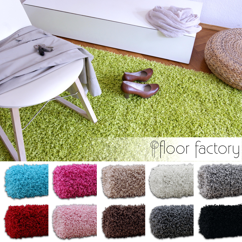 hochflor shaggy teppich loca flauschiger und g nstiger langflorteppich ebay. Black Bedroom Furniture Sets. Home Design Ideas