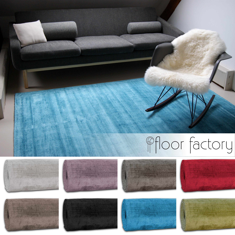 Moderner Teppich Lounge edler Designer Teppich im Vintage