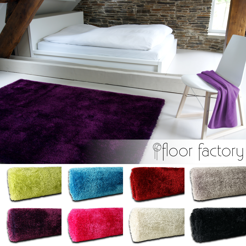 moderner flauschig weicher hochflor teppich seasons. Black Bedroom Furniture Sets. Home Design Ideas
