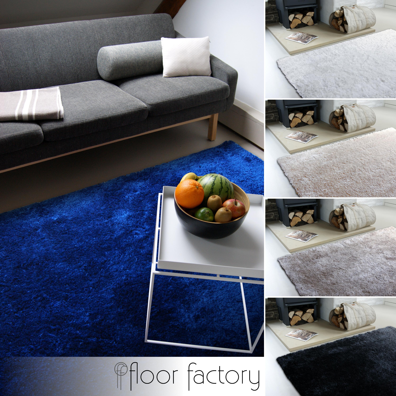 Moderner Teppich Delight - edler Designer Teppich mit flauschig ...